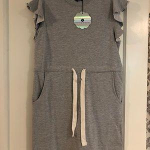 Gray drawstring sweater dress from ASOS